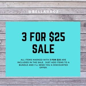 🔴3 for $25 SALE!